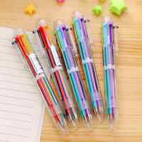 1Pc Stationery 6 Colors in 1 Multicolor Ballpoint Pen Students Teacher Office AU