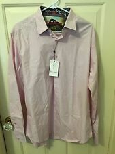 NWT ROBERT GRAHAM RG1025 Long Sleeve Cotton Shirt Pink Stripe MULTI COLOR $198