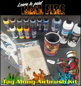 60ml Real Fire Paint / Movie & Stencil Set Wicked Colors / Free Insured Freight