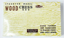 Vintage Staunton Model Wood Chess Set Cardinal Games Sealed In box!