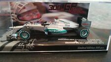 MINICHAMPS F1 1/43 MERCEDES W02 MICHAEL SCHUMACHER 300TH GP - BELGIAN GP 2012