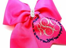 Monogram  Personalized Cheer Hair Bow Softball Volleyball