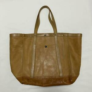 RRL Authentic 2017 Summer Washed Leather Tote Bag Used from Japan