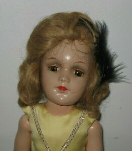 """1930's Unmarked Sonja Henie Composition Doll 14"""" tall #DE152"""