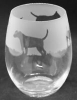 Water Glass FOX Frieze Boxed 36cl Crystal Stemless Wine