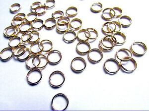 Silver Plated and Gold Plated Fashion 8 mm Split Rings x (300  pcs)