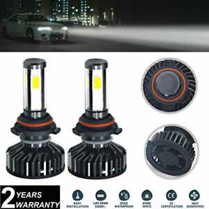 2x 9006 HB4 White LED Headlight Bulbs Foglamp 72W COB For Honda Civic 2015-2010