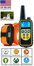 Dog Shock Training Collar Rechargeable Waterproof Lcd Pet Trainer 2600 Ft Remote
