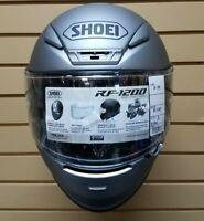 2017 SHOEI RF1200 Solid Matte Dark Grey Full face Motorcycle Helmet SMALL