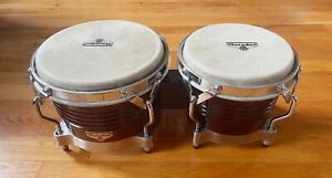 BARELY USED Matador Bongos / Dark Wood / Fine Rawhide Heads / Latin Percussion
