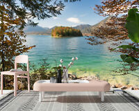 3D Lake Scenery Self adhesive Living Room Wallpaper Bedroom Wall Murals Decor