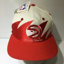 Vintage NBA Atlanta Hawks Sharktooth Logo Athletics Snapback Cap Hat OSFA NWT