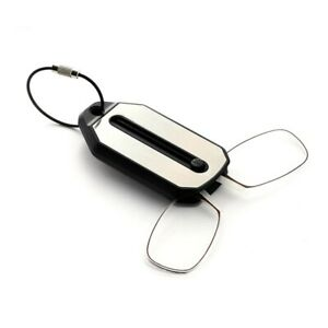 Mini Nose Clip On Portable Reading Glasses Rimless Key Chain Wallet Magnifying