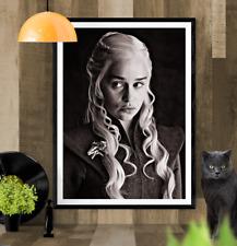 Daenerys Targaryen Game of Thrones Sketch Art Picture Poster Print