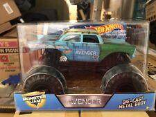 """Hot Wheels Monster Jam 57' Bel Air Avenger """"Junkyard Blue"""" with rust 1:24"""