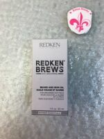 Redken Brews Beard & Skin Oil for Grooming Softness 1 oz NIB