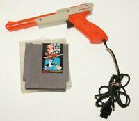 Original Nintendo NES Super Mario Bros Duck Hunt With Orange Zapper Gun Bundle