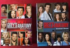 Grey's Anatomy LOT of 2 Complete DVD Sets: Season Three 3 & Four 4