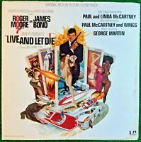 James Bond 007 Live And Let Die 1973 Original Motion Picture Soundtrack Vinyl LP