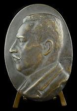 Médaille Profil d'homme à déterminer ? sc Fraisse 1923 10 cm Medal