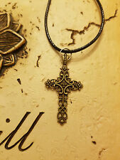 Cross Necklace, Easter, Scroll, Religious Pendant