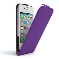 Tasche für Apple iPhone 4 / 4S Flip Case Schutz Hülle Handy Cover Lila