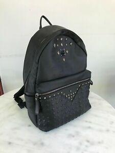 MCM Studded Backpack (Black)