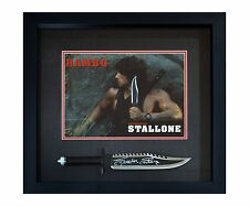 Sylvester Stallone John Rambo Autographed Framed RAMBO II Knife ASI Proof