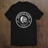 Hustle Gang logo Men's Black White T-Shirt Size S-2XL