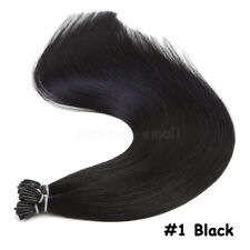 Keratin Pre Bonded Stick I Tip Remy Human Hair Extensions Black Brown Blonde