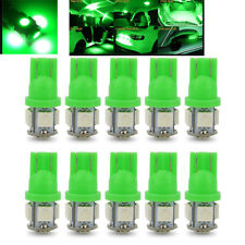 10PCS T10 Wedge 5-SMD 5050 Green LED Light Bulbs W5W 2825 158 192 168 194 12V DC