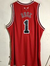 Adidas Swingman NBA Jersey Chicago Bulls Derrick Rose Red sz 4X