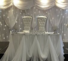 Wedding Throne Chairs/Love Lounge/Chair Covers/CentrePiece FOR EVENT DECOR HIRE!
