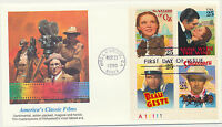 Hollywood Classic Films 2448a Plate # Block Fleetwood Cachet FDC Unadd LOT 918