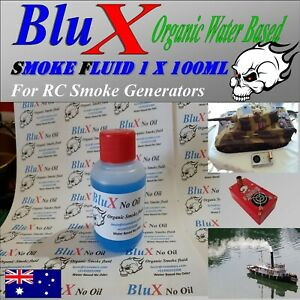 BluX Water Based Organic Super Smoke Fluid 100 ml Model Boat Tank Trains Trucks
