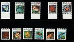 Palau Scott #9-19 Marine Life Short Set Mint Never Hinged
