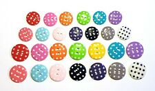 27 pcs Mix size retro polka dot button 2 holes Assorted colors