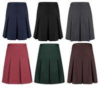 Girls Ex High Street Grey, Black, Navy, Green, Burgundy School Skirt Ages