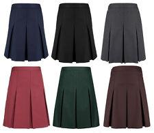 Girls School Skirt Ex High Street Grey, Black, Navy, Green & Burgundy