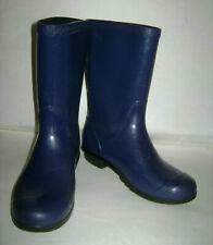 UGG GIRLS TALL RAIN BOOTS SHOES WATERPROOF RUBBER size US 4 NAVY BLUE