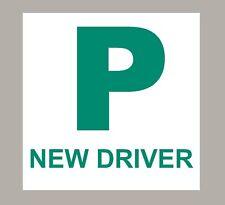 2 x P PLATES PAIR PASSED DRIVING TEST SELF ADHESIVE
