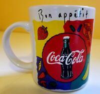 1998 Coca Cola Bon Appetit Coffe Mug by Gibson Housewares 12 oz