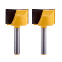 "2pcs 1/4"" Shank Bottom Cleaning Router Bit Woodworking Milling Cutter Tool"