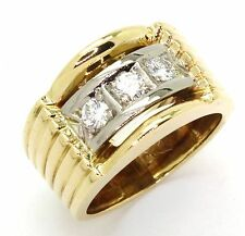 18ct Yellow Gold 0.36ct Diamond Dress Ring - Size P