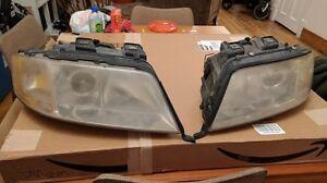 Audi C5 A6 HID Headlight Assemblies OEM Hella 148473-00 148474-00 /W BALLASTS