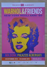 ORIGINAL POSTER ANDY WARHOL MARILYN EXIBITION BOLOGNA ITALY