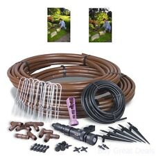 Outdoor Garden Drip Irrigation Plant Watering System Kit Set Simple Installation