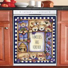 Beautiful Cute Decor Kitchen Dishwasher Magnet - Teddy Bear Family