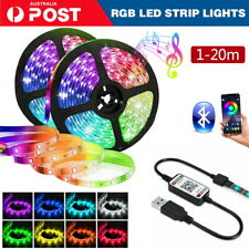 1M-20M 5050 RGB LED Strip Light USB Wireless TV Back Bluetooth Control Lights AU