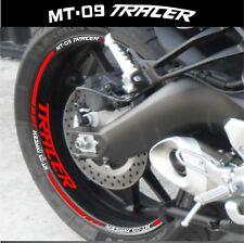LISERETS JANTES MOTO MT09 TRACER STICKERS kit pour 2 jantes 40 color
